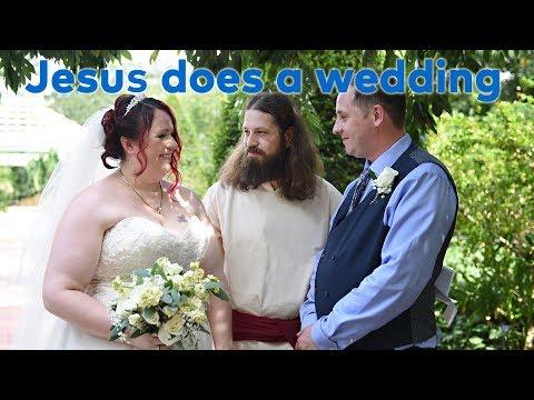 Jesus officiates a wedding in Orlando, Florida