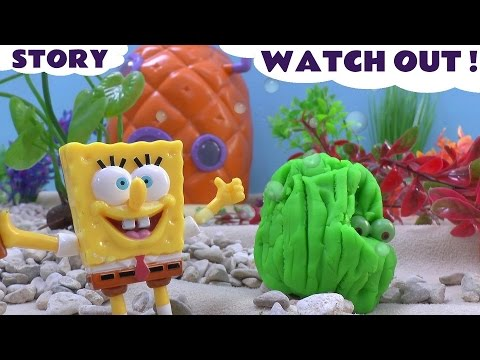 Play Doh Princess Ariel  Spongebob Squarepants Story Pineapple House Playdough