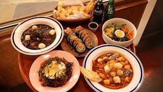인사동 분식 맛집, 연탄 불고기 짜장 떡볶이 튀김 김밥 쫄면 김치볶음밥 - 인사동 로라방앗간