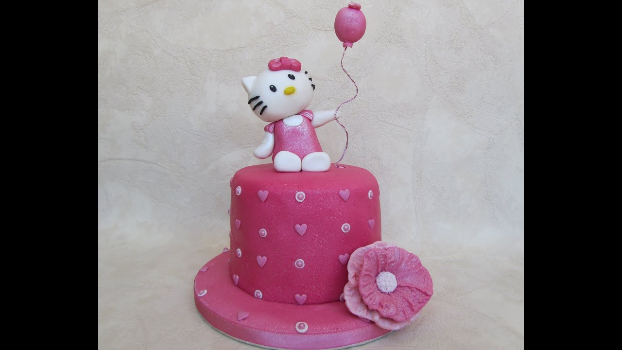 How To Make Hello Kitty Cake Topper Tutorial Come Fare