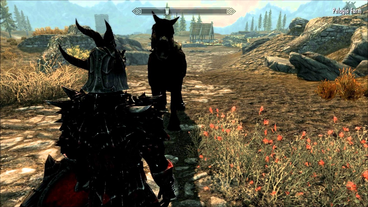 Skyrim - Whistle for your horses