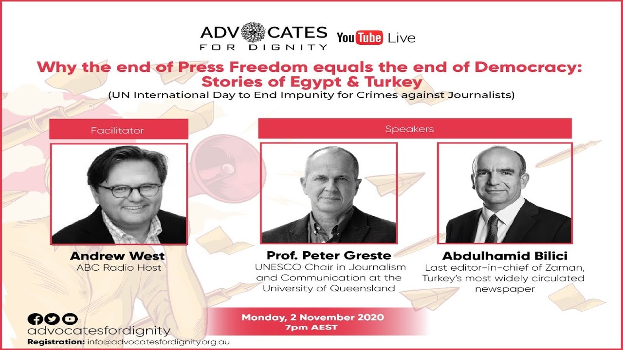 Why the end of Press Freedom equals the end of Democracy: Stories of Egypt & Turkey