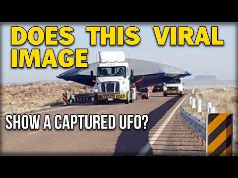 DOES THIS VIRAL IMAGE SHOW A CAPTURED UFO?