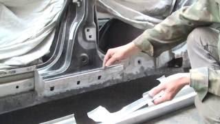Как заменить и отремонтировать пороги своими руками Renault Laguna #2
