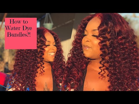How to dye bundles in 6 minutes ?! | water dye method | quick and easy|