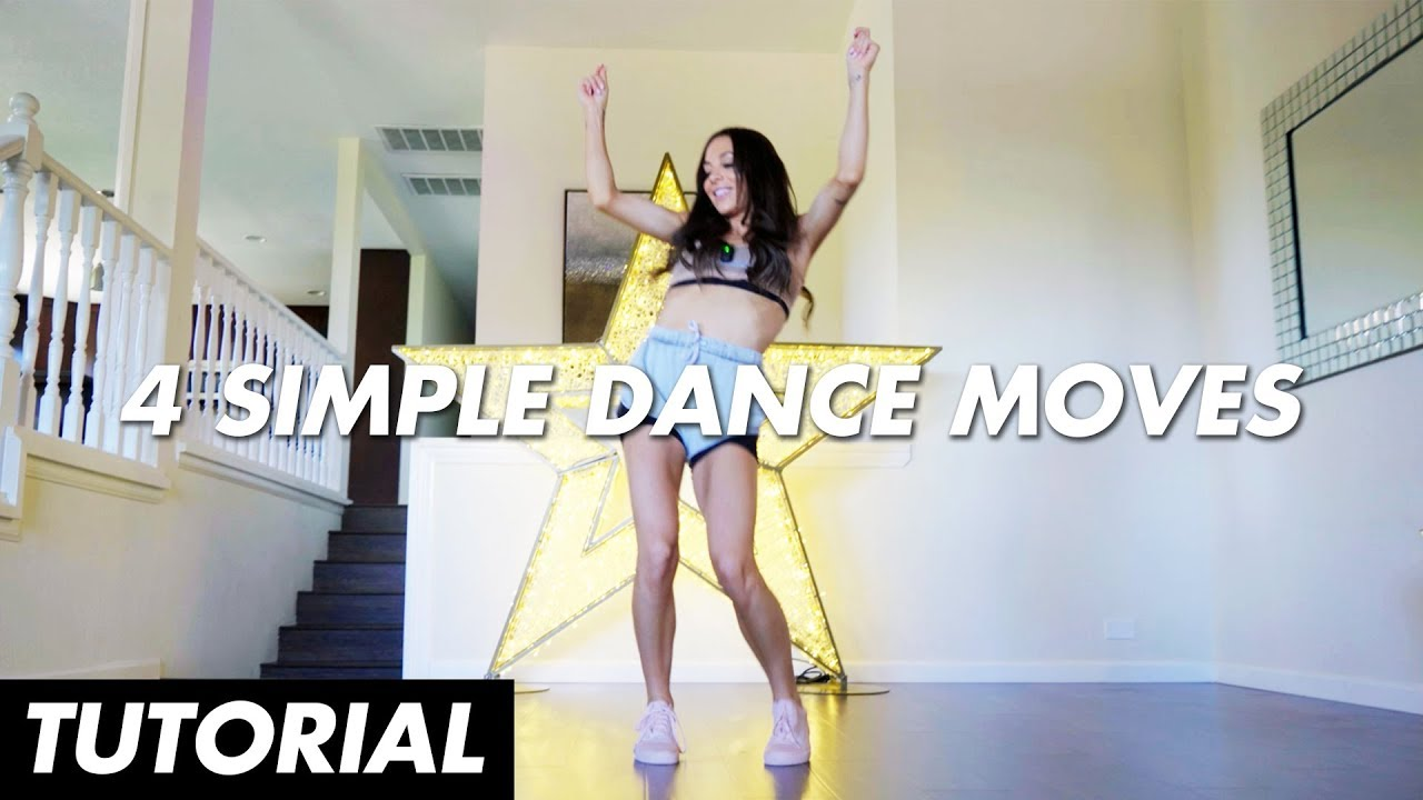 4 Simple Dance Moves (Dance Tutorial for Beginners) | Mandy Jiroux