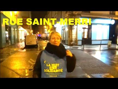 La nuit de la solidarité rue Saint Merri 16 février 2018