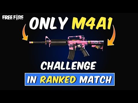Free Fire - Only M4A1 Gun Challenge With TeamUp