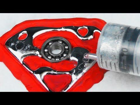 DIY. SUPERMAN Gallium Fidget Spinner