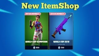 Fortnite Shop of Today 26.7.19 I NEW WORLD CUP SKIN,TARNUNG+FREE BANNER