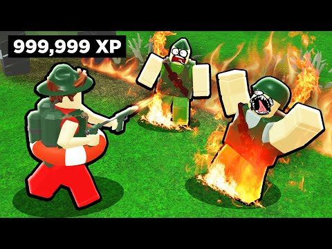 Burning NOOBS Alive In Roblox War Simulator.. (Infinite Flame Thrower)
