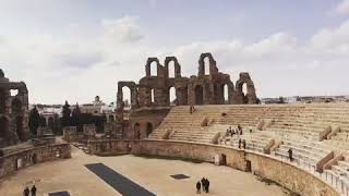El Jem Roma Colosseum in Tunisia