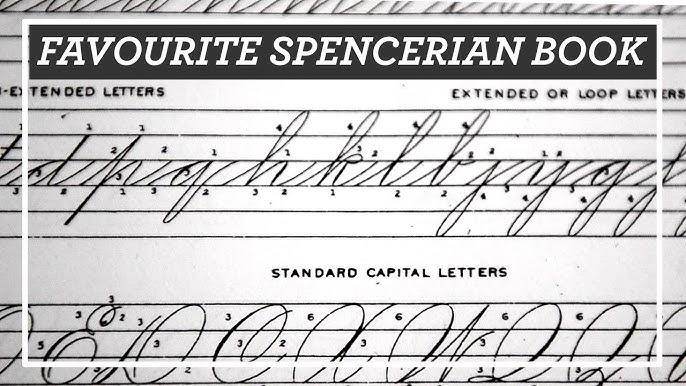 Favourite Spencerian Book New Spencerian Compendium Review For Penmanship And Flourishing Youtube