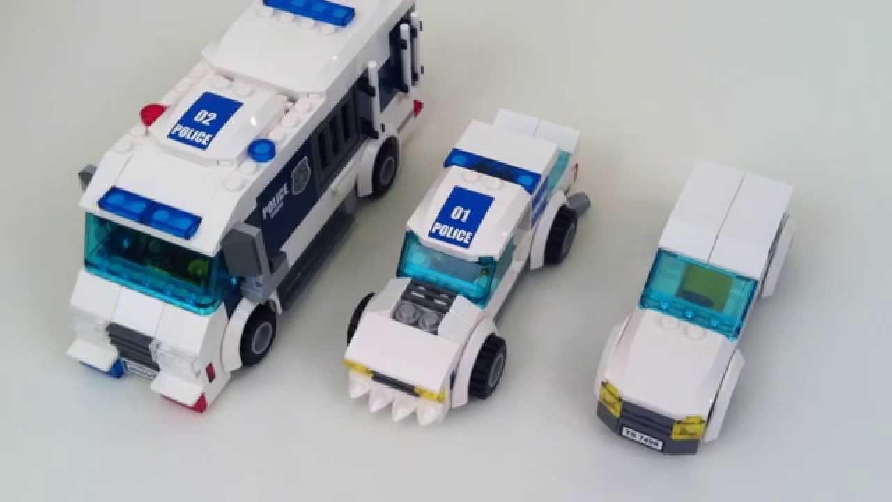 Lego Custom Police Vehicles Youtube
