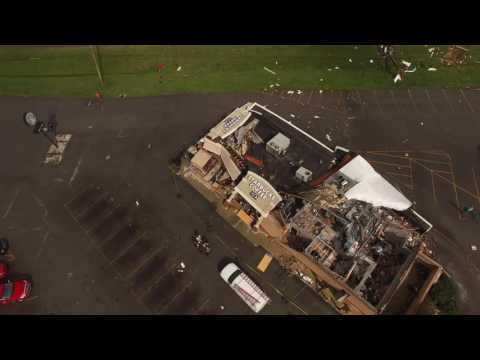 Howard County Tornado Damage Drone View in 4K