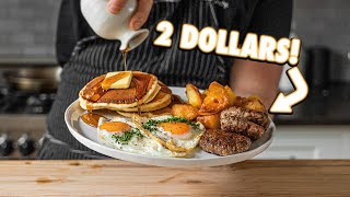 The 2 Dollar All American Breakfast   But Cheaper