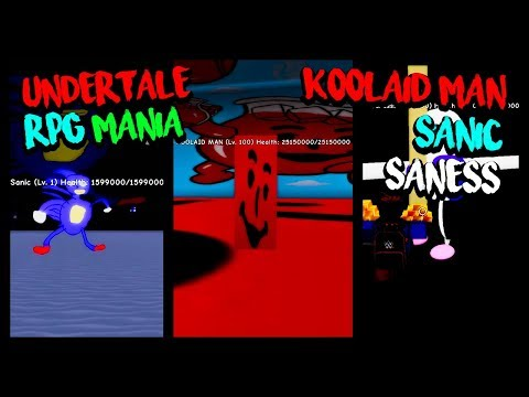 Sanic, Koolaid Man And Saness! - Undertale Rpg Mania ( ROBLOX )