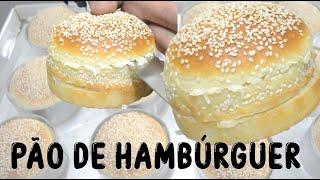 Pão de Hambúrguer Caseiro de Fast Food