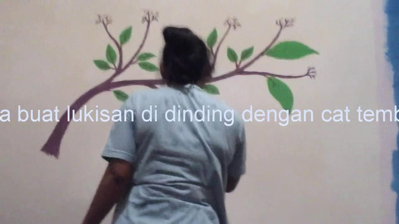 Cara Buat Lukisan Dinding Motiv Bunga Youtube