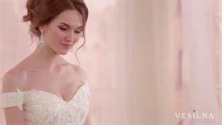 Красивое свадебное платье А силуэт  от VESILNA™ модель 3070