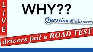 Why Drivers Fail Road Test How First Time Questions And Answers