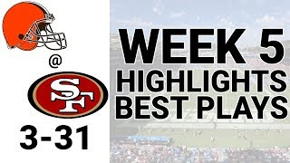 Browns vs 49ers Highlights Week 5 | NFL 2019