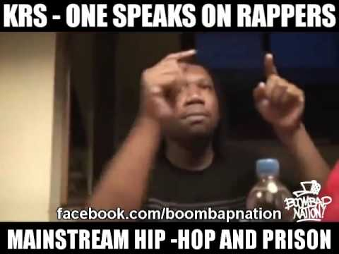 KRS One About Mainstream Rappers