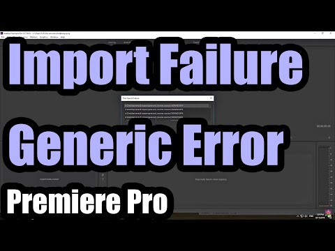The importer reported a Generic Error (Premiere Pro, rename MP4 to MTS)