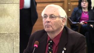 Bob Viden speaks at the New Jersey Senate anti-gun hearings