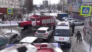 Пожар на вещевом рынке в Архангельске