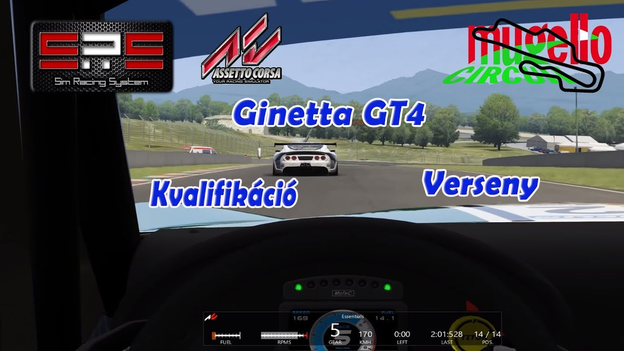sim racing system ac ginetta g4 supercup mugello. Black Bedroom Furniture Sets. Home Design Ideas