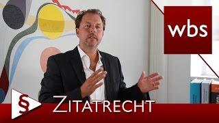 Recht für YouTuber: Was ist das Zitatrecht? | Rechtsanwalt Christian Solmecke