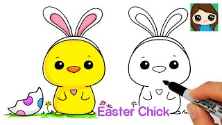 How to Draw an Easter Baby Chick