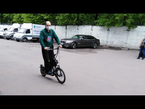 Лёгкий электросамокат на больших колесах