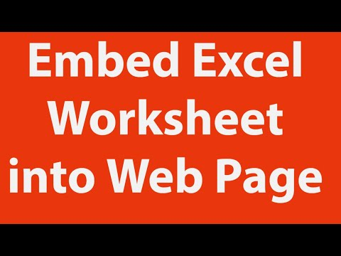 How To Embed Excel Worksheet Data Into Web Pages