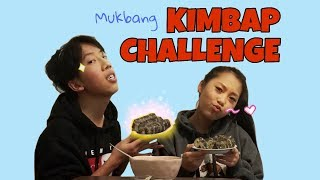 Mukbang Kimbap Challenge!