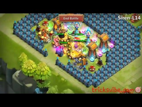 Castle Clash Heroes Trial L14 Siren Just For Showing My HBM Strategy