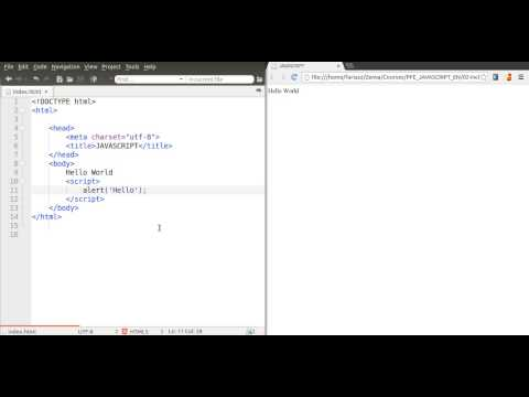 How to Include a JavaScript Code in your HTML File