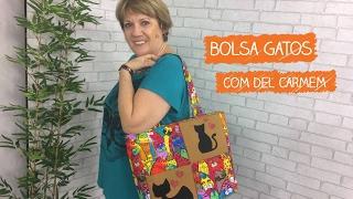 Bolsa Gatos com Del Carmem