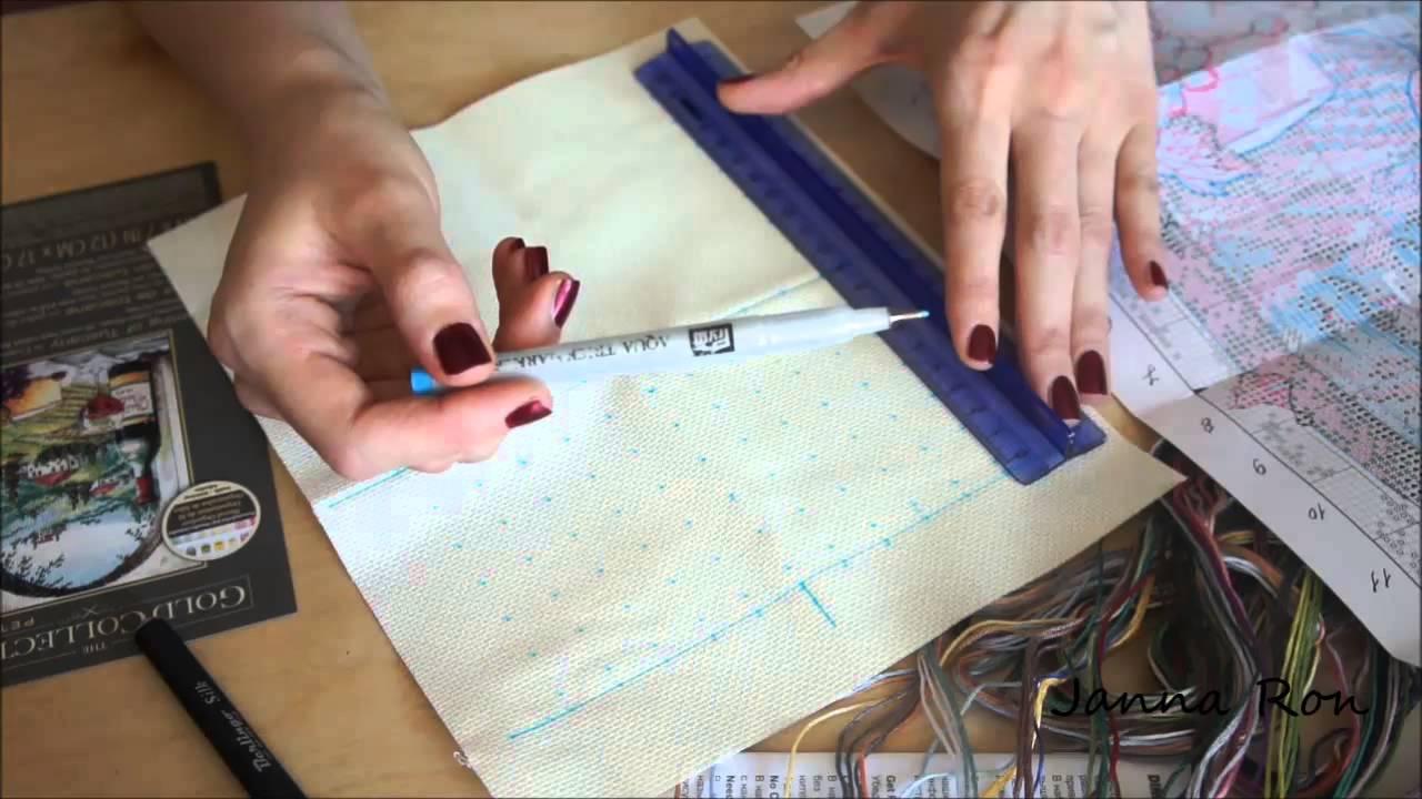 Как начать вышивку крестиком по схеме