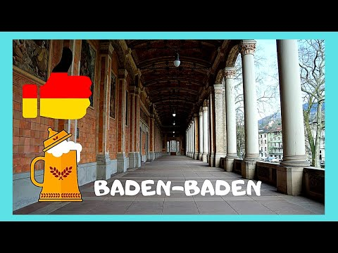 BADEN-BADEN, GERMANY'S beautiful SPA TOWN & its ROMAN BATHS, top attractions
