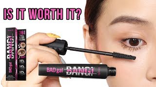 Testing out the New Benefit Bad Gal Bang Mascara - TINA TRIES IT