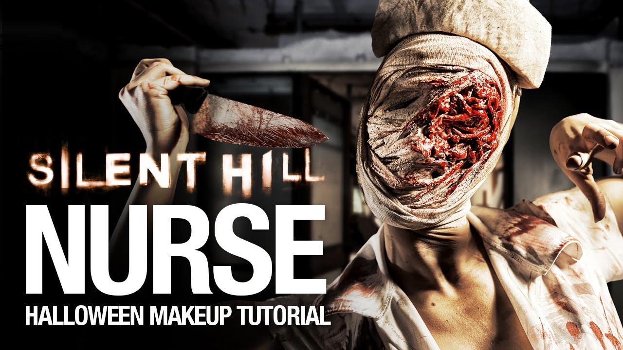 321a653d58086 Silent Hill nurse Halloween makeup tutorial - YouTube