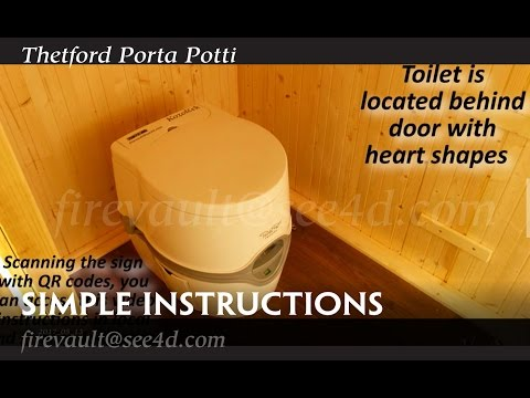 Thetford Porta Potti Excellence basic usage instructions