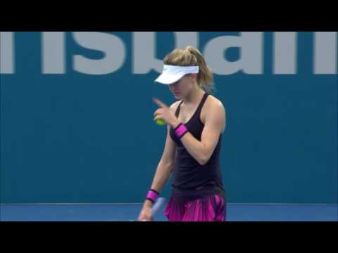 Shelby Rogers v Eugenie Bouchard highlights (1R) | Brisbane International 2017