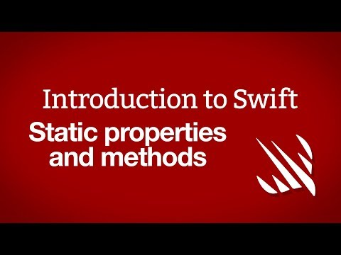 Introduction to Swift: Static properties and methods thumbnail