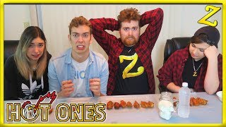 The Hot Ones Challenge!   Ft. Shubble, ParkerGames & Cheese!
