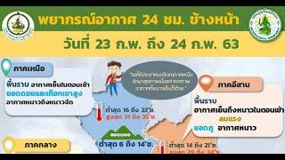 อุตุฯเตือนใต้อ่าวไทยคลื่นสูงลมแรง : เกาะสถานการณ์ 08.30 น. (23/02/63)