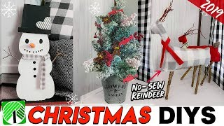DIY DOLLAR TREE CHRISTMAS DECOR 2019 | No-Sew Fabric Reindeer ANYONE CAN MAKE!