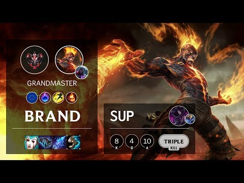 Brand Support Vs Morgana - EUW Grandmaster Patch 10.7